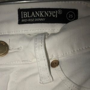 Blank NYC Jeans - Blank NYC white skinny jeans size 25